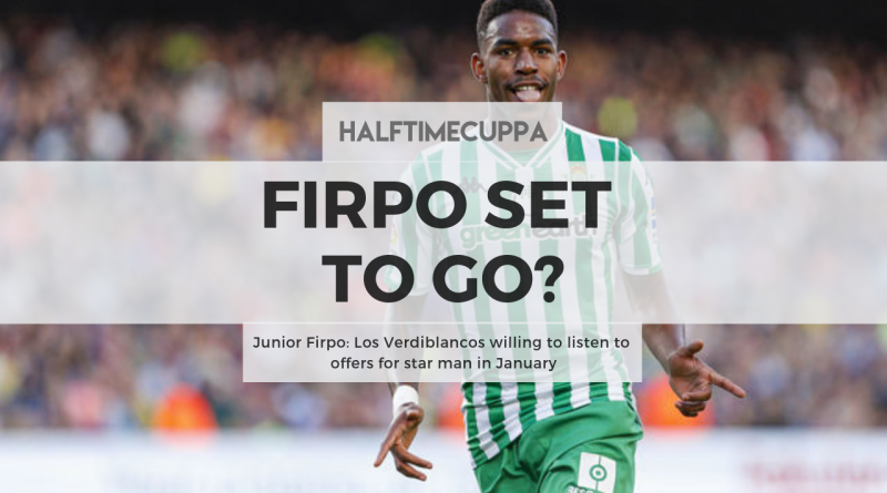 Junior Firpo: Los Verdiblancos willing to listen to offers for star man in January