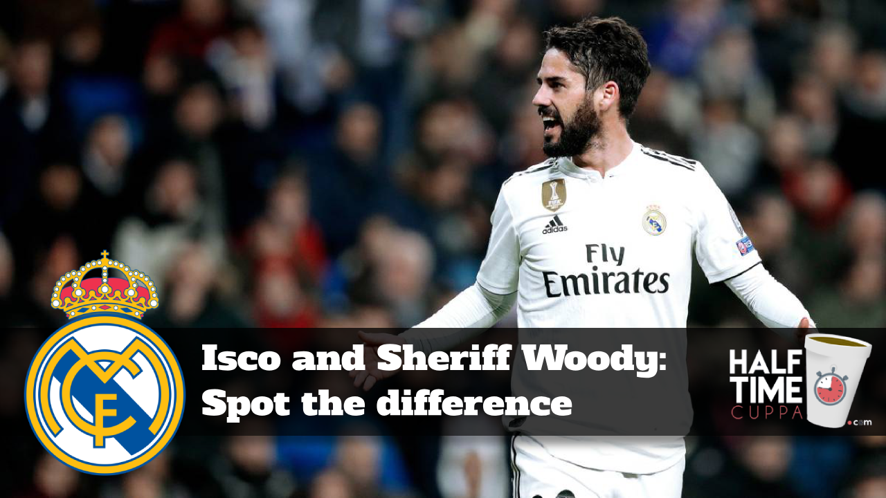 Isco and Sheriff Woody: Spot the difference