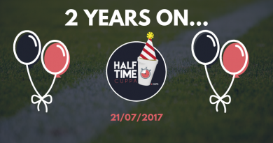 Half Time Cuppa Turns Two!