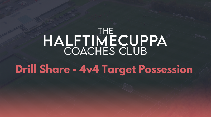 Coaches Club – 4v4 Target Possession Game